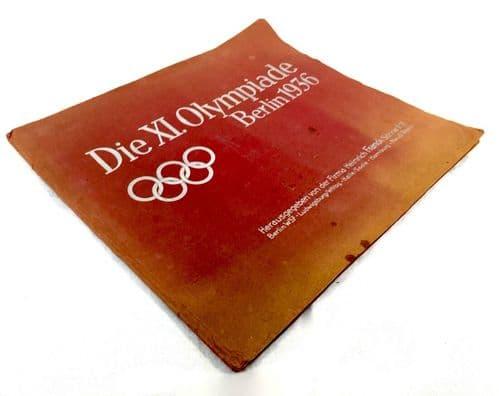 Antique German 1936 Olympics Cigarette Card Book / Magazine Sporting Memorabilia